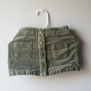 Genuine by OshKosh Baby Girl Button Corduroy Skirt